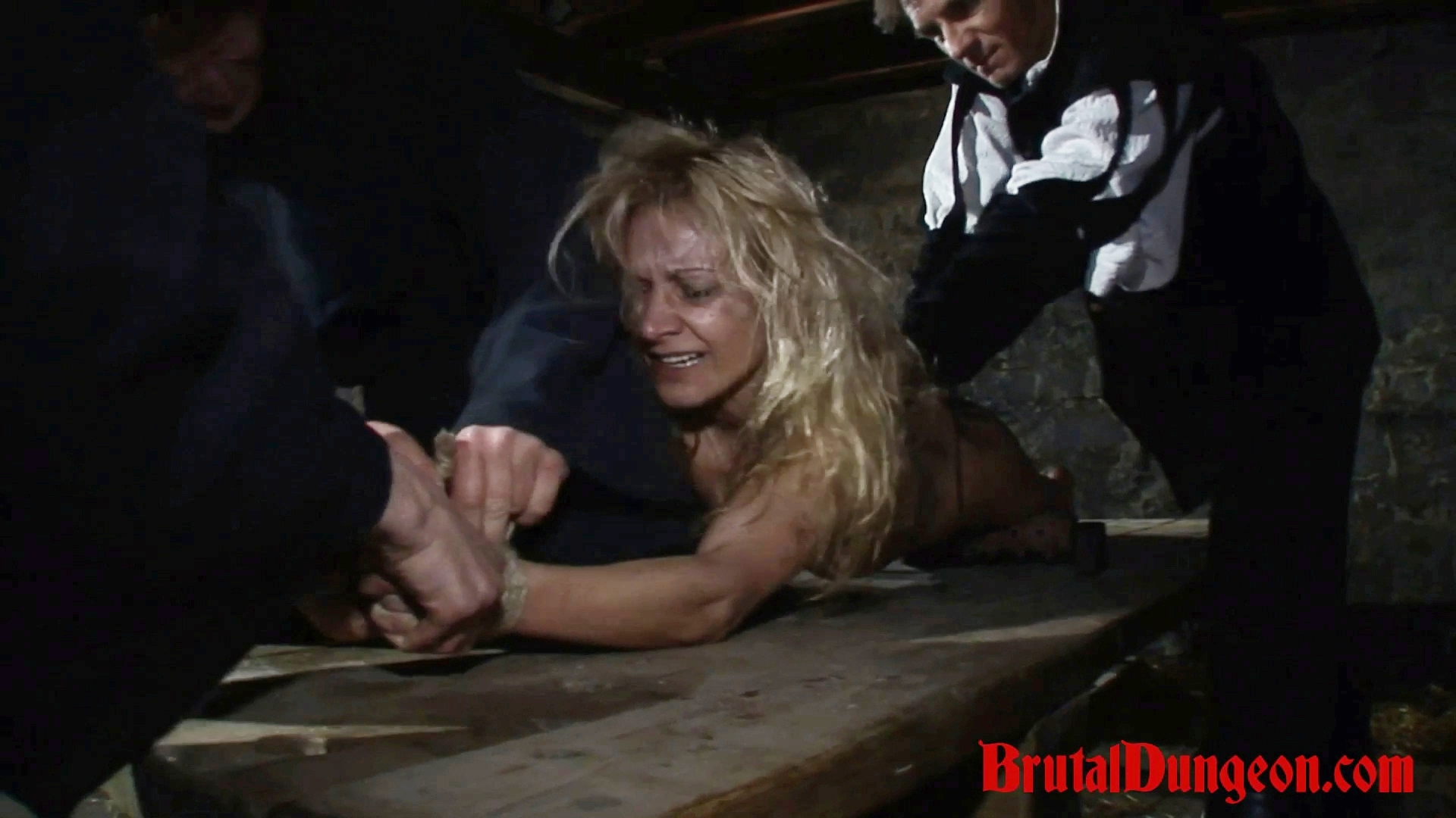 Blonde romina is brought to a specialist prison to serve her term getting gangbanged  blonde sorceress romina was caught conjuring spirits with her coven  romina must endure imprisonment bdsm gang bang domination bondage and suspension spanking slapping f. Blonde Sorceress Romina was caught conjuring spirits with her coven. Romina must endure imprisonment, BDSM gang bang, domination, bondage and suspension, spanking, slapping, fingering, breast, nipple and kitty tortured with a bondage table and spiked roller.