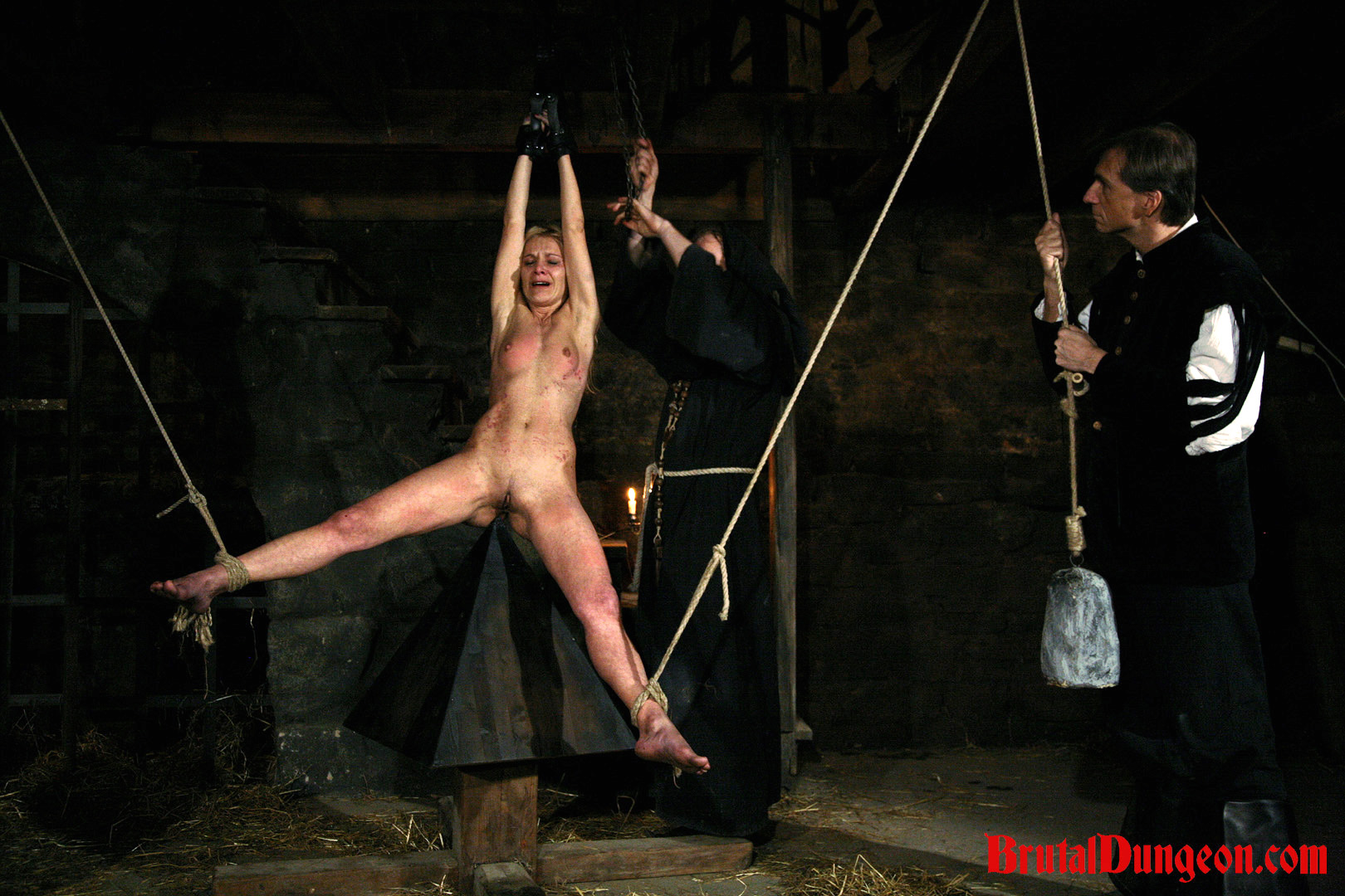 Blonde romina imprisoned bdsm gangbang  blonde serial thief romina picked the wrong home to penetrate and steal from  romina must endure imprisonment bdsm gang bang domination rope bondage and suspension spanking slapping fingering breast nipple and pussy. Blonde serial thief Romina picked the wrong home to break into and steal from. Romina must endure imprisonment, BDSM gang bang, domination, rope bondage and suspension, spanking, slapping, fingering, breast, nipple and cunt anguished with an interesting device and weights.