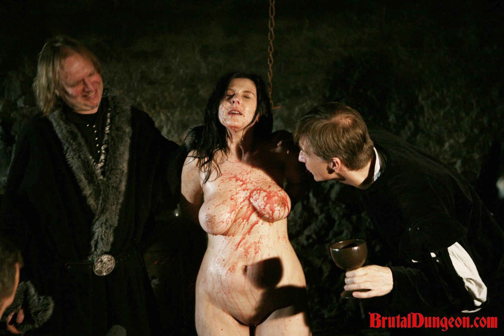 Brunette gypsy for bdsm gang bang. Gypsy, a lusty brunette fortune teller, must endure imprisonment, BDSM gang bang, domination, rope bondage and suspension, spanking, slapping, humiliation, fingering, breast, nipple and cunt torment. She's so pleasant at her job that she saw this punishment coming.
